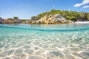 Sardinia-east-coast-costa-smeralda-capriccioli-beach-dome-effect
